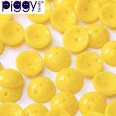 Opaque Yellow Piggy Beads - Pack of 30