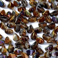Magic Copper 5x3mm Pinch Beads, Approx 10gms