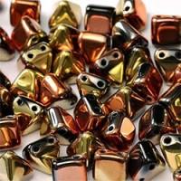 Twin Hole Pyramid Beads