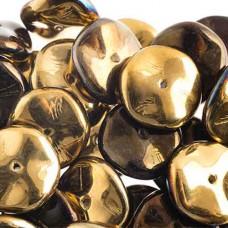 Preciosa 12mm Ripple Beads California Night, 20 beads