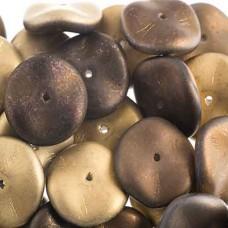 Preciosa 12mm Ripple Beads California Night Matt, 20 beads