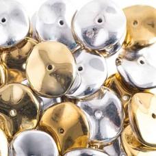 Preciosa 12mm Ripple Beads California Silver 20 beads