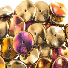 Preciosa 12mm Ripple Beads California Sun, 20 beads