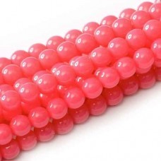 4mm Round Beads, Strawberry Pink, Pack of 120