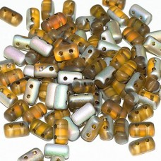Bulk Beads Rulla Beads Topaz Vitrail Matted 3x5mm 100g approx.