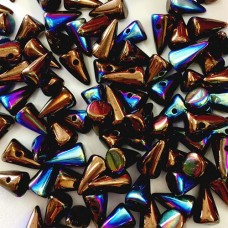 Bulk Bag Jet Bronze AB Czech Baby Spikes, 5x8mm, 600pcs