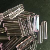 20mm Czech Glass Rectangular Tube Bead, Pink, Pack of 5