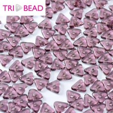 Tri-bead 4 mm Amethyst  - 3g approx.