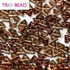 Bulk Bag Tri-bead 4mm Amethyst Capri Gold, 50gm