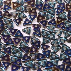 Tri-bead 4 mm Crystal Azuro  - 3g approx.