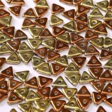 Bulk Bag Tri-bead 4 mm Crystal California Gold Rush  - 50g approx.