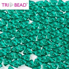 Tri-bead 4 mm Emerald - 3g approx.