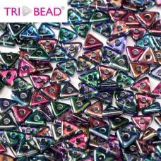 Bulk Bag Tri-bead 4mm Magic Blue, 50gm
