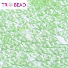 Tri-bead 4 mm Peridot - 3g approx.
