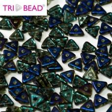Bulk Bag Tri-bead 4 mm Peridot Azuro - 50g approx.