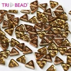 Bulk Bag Tri-bead 4mm Peridot Capri Gold, 50gm