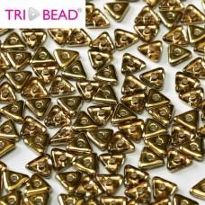 Tri-bead 4 mm Rosaline Amber - 3g approx.