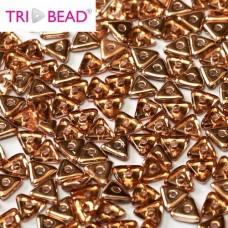 Tri-bead 4 mm Rosaline Capri Gold - 3g approx.