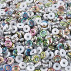 Chalk White Vitrail 6mm Wheel Beads, 5Grams