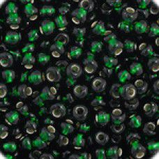 Dark Green Silver Lined, Size 11/0, 22g