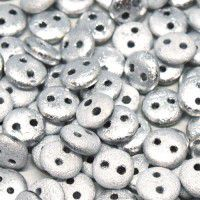 Labrador Full 6mm Etched 2-Hole Lentils, pack of 30 beads