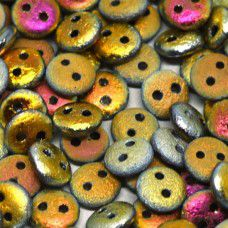 Marea Full 6mm Etched 2-Hole Lentils, pack of 30 beads