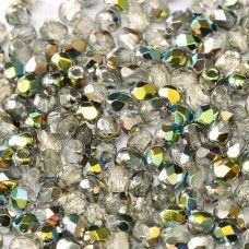 Crystal Vitrai; 3 mm Fire Polished, 120pcs