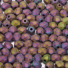 Jet Purple Iris matted  3mm Firepolished Beads,  Pack of 120pcs