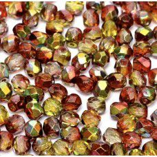 Magic Apple 4mm Firepolished beads, 120pcs