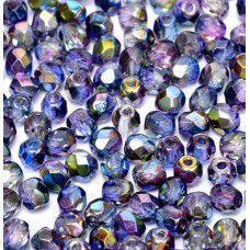 Magic Blue 4mm Firepolished beads, 120pcs