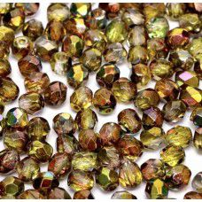 Magic Green 4mm Firepolished beads, 120pcs