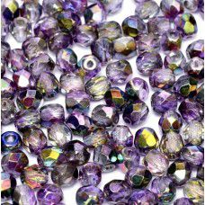 Magic Purple 4mm  Firepolished beads, Bulk Bag of 1200pcs