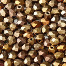 Metallic Mix 3mm Fire Polished Beads, 120pcs