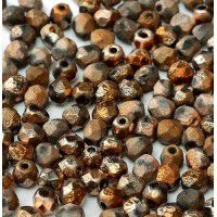 Sunset Full 4mm Crystal Etched Firepolished Beads, Pack of 120pcs