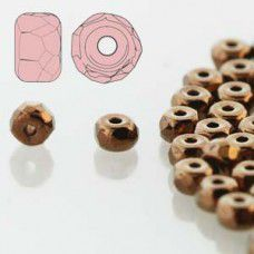 Dark Bronze 2 x 3mm Faceted Micro Spacers, Pack of 50pcs