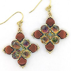 Baroque Quartet Earrings, a Free Pattern by Leslie A. Pope