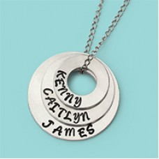 Circle of Life Washer Necklace - A Free Pattern from ImpressArt