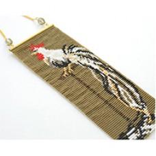 Miyuki Delica Onagadori Long Tailed Chicken Mini Tapestry, a Free Pattern from Miyuki