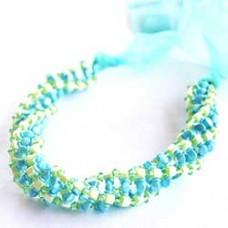 Crisscross Spiral Necklace - a free pattern by Petra Koubová