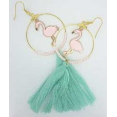 Flamingo Tassel Earrings, designed by Damaris Ramenaden
