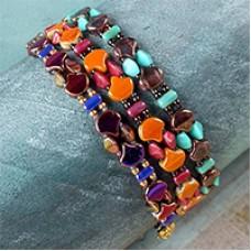 Ginko Wrap Bracelet, A Free Project by Nela Kábelová