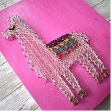 Llama Wire String Art, a Free Pattern by Beadalon
