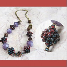 Picasso Cube Seed Beaded Bead Necklace, a Free Pattern by Miyuki