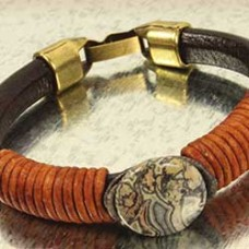 Playful Cord Leather Bracelet - A Free Pattern by Melissa Cable