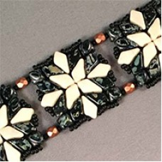 Quilted Kite Bead Bracelet, a free pattern by Susan Sassoon