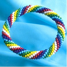 Rainbow Colour Bracelet - A Free Pattern from Miyuki