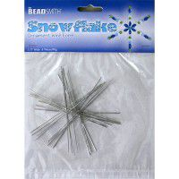 3 3/4 inch Wire Snowflake, 8 Pieces