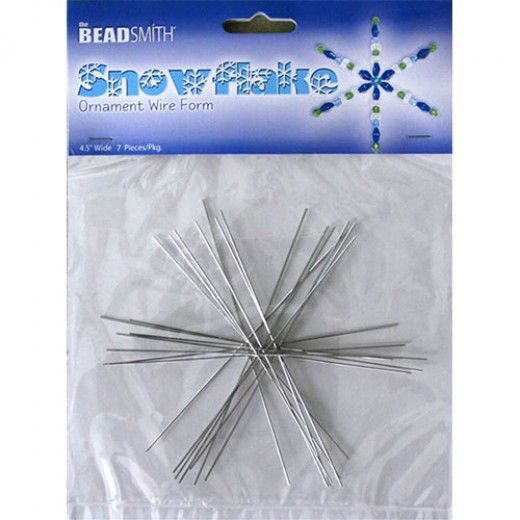 4 1/2 inch Wire Snowflake, 7 pieces