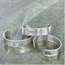 Stamp It Forward Cuff Bracelets - A Free Pattern From ImpressArt