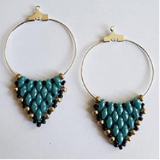 Super Duper Hoops, a Free Pattern by Leslie A. Pope